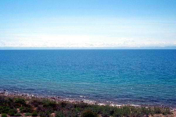 A pearl of Kyrgyzstan – never freezing lake Issyk-Kul (with water chemical composition close to marine)